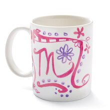 Mother's Day Sharpie Doodled Mug