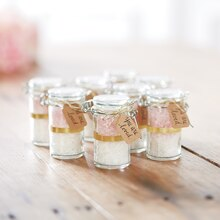 Bath Salt Favor Jars