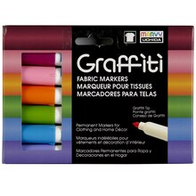 Marvy Uchida Graffiti Fabric Markers, Floral