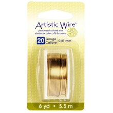 Artistic Wire, Brass 20 Gauge