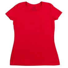 Short Sleeve Missy Crew T-Shirt, Red, Extra Large