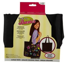 Back to Basics Canvas Tote Bag, Large, Black
