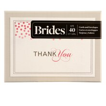 Brides Pink Confetti Thank You Cards