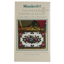 Wonderart Latch Hook Kit, Elegant Roses