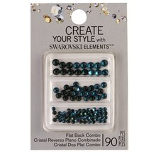 Create Your Style with Swarovski Elements Flat Back Blue Combo