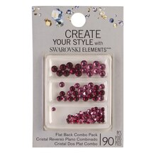 Create Your Style with Swarovski Elements Flat Back Pink & Red Combo