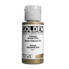 Golden Fluid Acrylics, 1 oz. Iridescent Bronze (Fine)