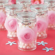 Tulle Rosette Hinged Jar Wedding Favor, medium