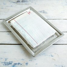Teacher Appreciation: Notebook Paper Cake, medium