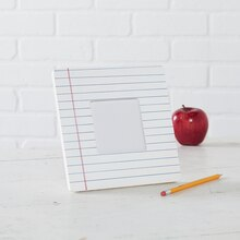 Teacher Appreciation: FolkArt® Notebook Paper Frame