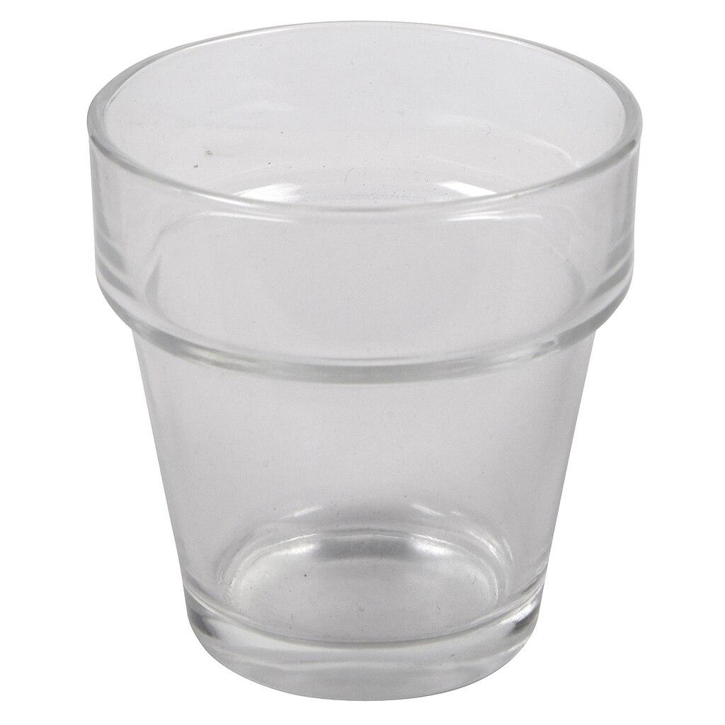 Ashland® Glass Flower Pot Votive Holder