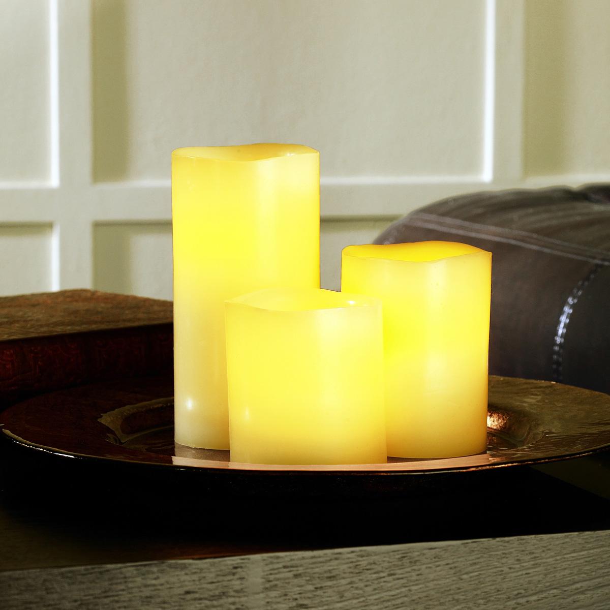 Ashland wax touch led pillar candle set