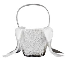 Celebrate It Occasions Vintage Lace Flower Basket, White