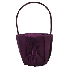 Celebrate It Occasions Pleated Satin Flower Basket, Eggplant