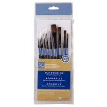 Artist's Loft Necessities Natural Hair Brushes, 10 Count