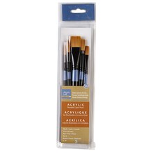 Artist's Loft Necessities Golden Synthetic Brushes, 5 Count