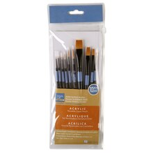 Artist's Loft Necessities Golden Synthetic Brushes, 10 Count
