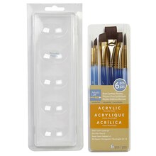 Artist's Loft Necessities Large Brown Synthetic Acrylic Brush Combo, 6 Pieces