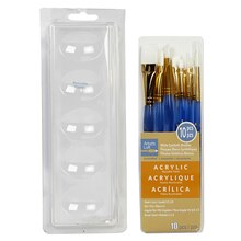 Artist's Loft Necessities White Synthetic Acrylic Brushes, 10 Pieces