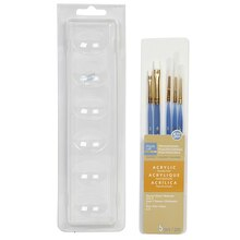 Artist's Loft Necessities Small White Synthetic Acrylic Brush Combo, 5 Pieces