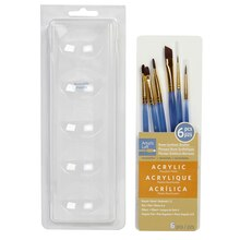 Artist's Loft Necessities Small Brown Synthetic Acrylic Brush Combo, 6 Pieces