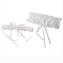 Celebrate It Occasions Leg Garter Set, White