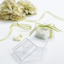 Celebrate It Occasions Clear Acrylic Square Favor Box