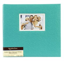 Recollections Embossed Scrapbook Album, Turquoise