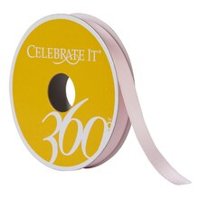"Celebrate It 360 Double-Faced Satin Ribbon, 3/8"", Pink"