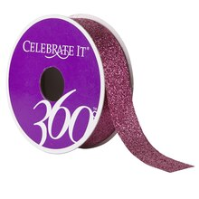 Celebrate It 360 Glitter Ribbon, Hot Pink