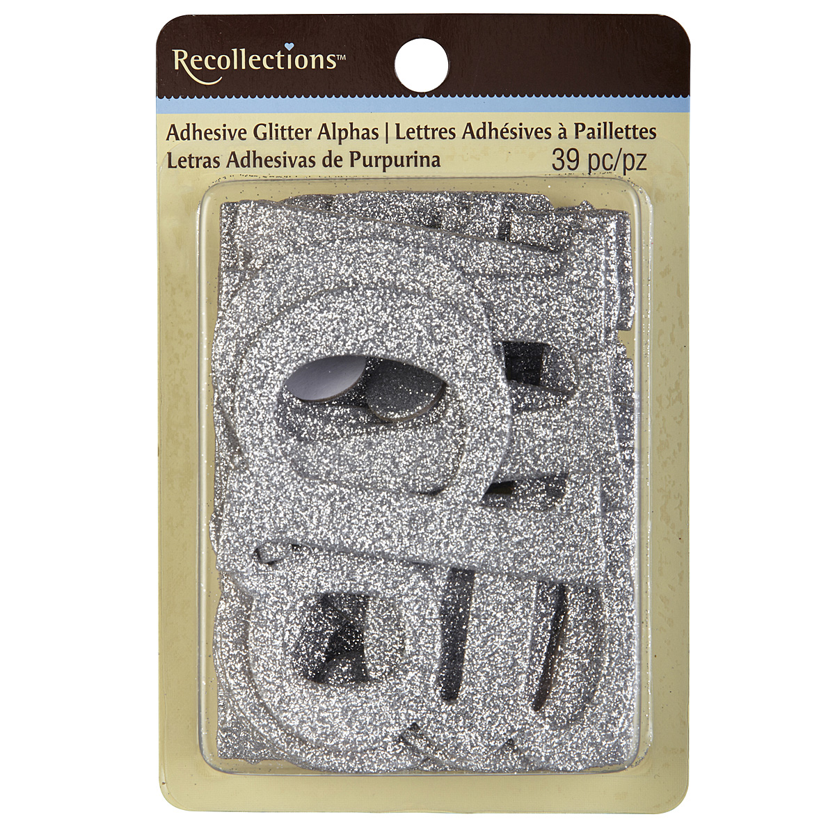 Chipboard Letters Ideas ~ Recollections™ adhesive glitter chipboard alphabet large