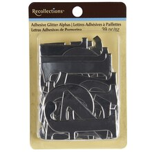 Recollections Adhesive Foil Chipboard Alphabet, Silver