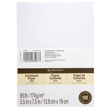 "Recollections Cardstock Paper Value Pack, 5.5"" x 7.5"", White"