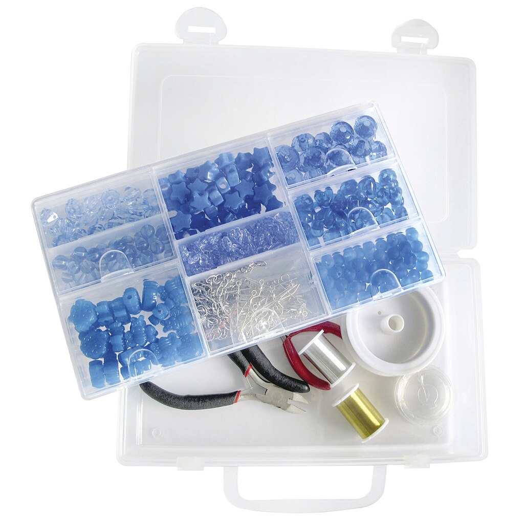 bead landing bead organizer with removable tray