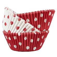 Celebrate It Standard Baking Cups, Red/White Polka Dots