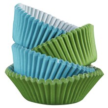 Celebrate It Mini Baking Cups, Blue/Green