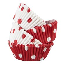 Celebrate It Mini Baking Cups, Red & White, Polka Dot