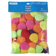 "Creatology Pom Poms 1 1/2"", Hot Colors"