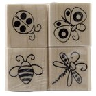 Recollections Wood Stamp Set, Bugs