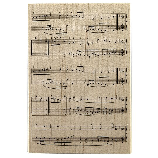 Recollections Wood Stamp Sheet Music
