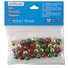 Creatology Jingle Bells, 10 mm, Multi-Colors