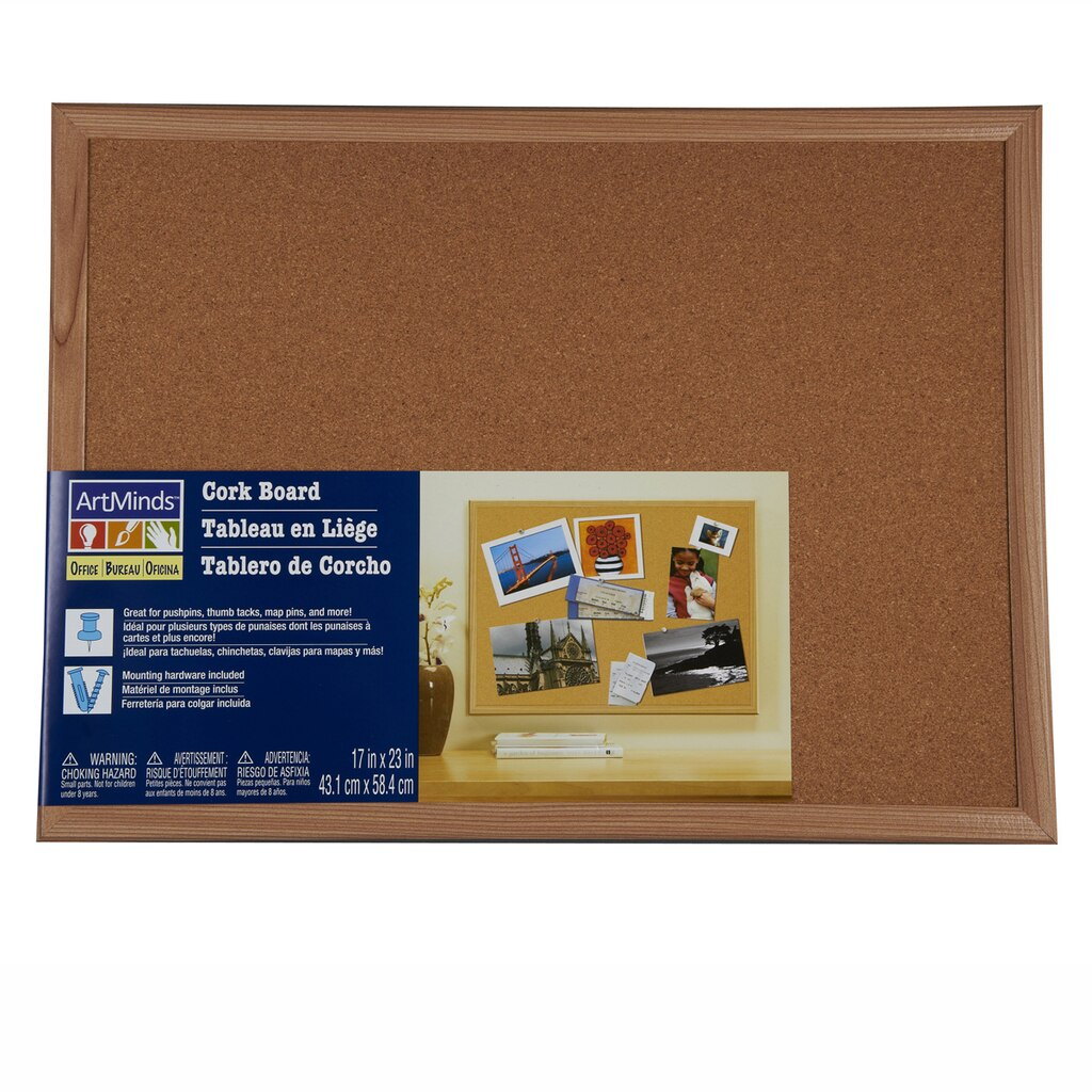 Wood Framed Cork Board By ArtMinds®