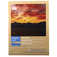 "Artist's Loft Necessities Canvas Pad, 9"" x 12"""