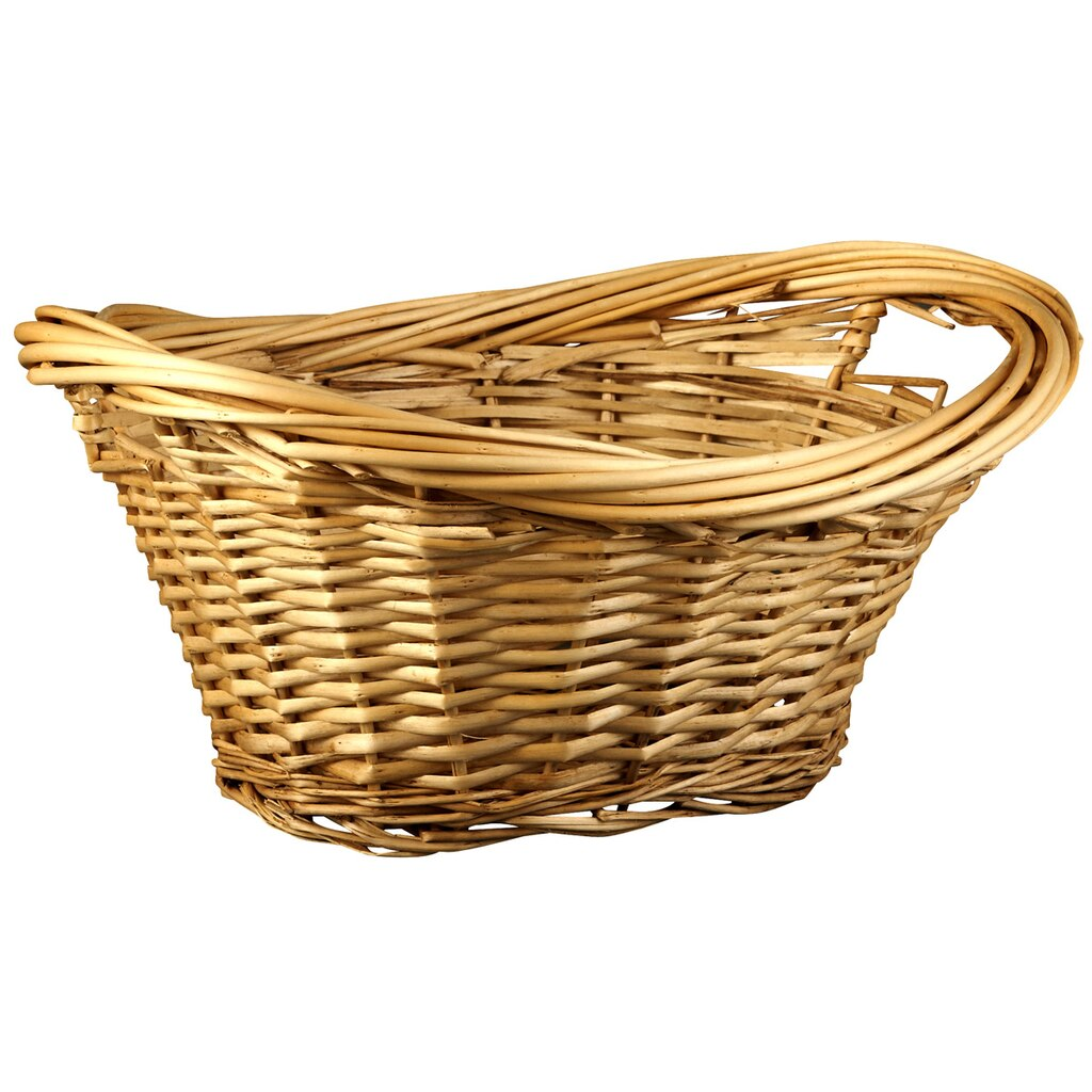 Small Natural Willow Laundry Basket By Ashland