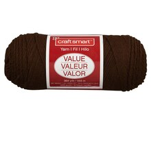 Craft Smart Yarn, Solid, Brown