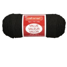 Craft Smart Yarn, Solid, Black