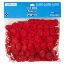 "Creatology Pom-Poms, 3/4"", Red"