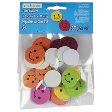 Creatology Foam Stickers, Smiley Face