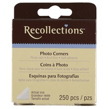 Recollections Clear Photo Corners, 250 Count