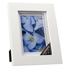 white gallery frame with double mat by studio dcor 4 x